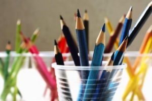 Coloured pencils workshops image